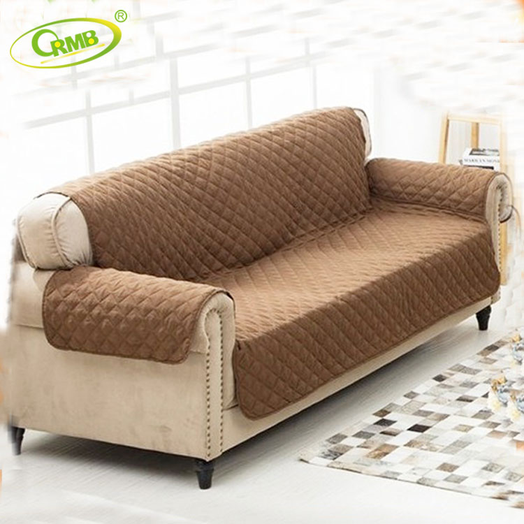 Plain Dyed Sofa Reversible Furniture Protector L Shape Sofa Cover