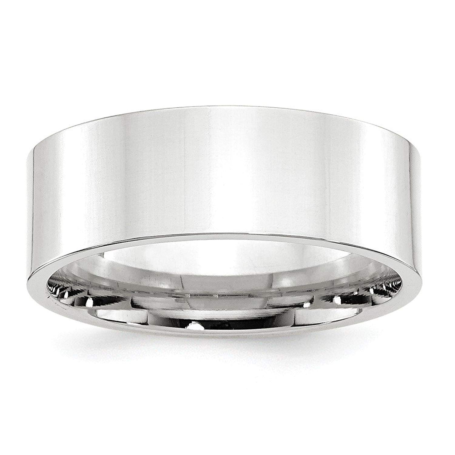 Perfect Jewelry Gift 14KW 8mm Standard Flat Comfort Fit Band Size 8.5