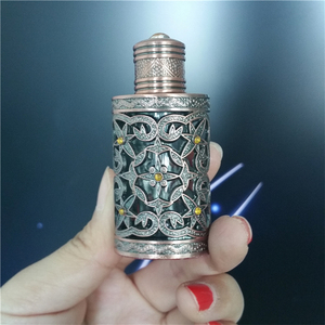 6ml Arabic Style Perfume Glass Bottle in guangzhou Bronze Color with Dropper Cap