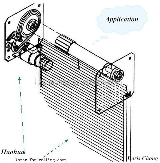 Ac 1000kg roll up door motor garage door opener for How to install a roll up garage door motor