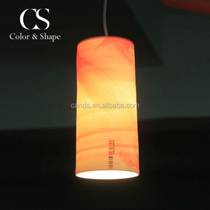 Professional design art cylinder ceramic chandelier ceiling lamp with CE