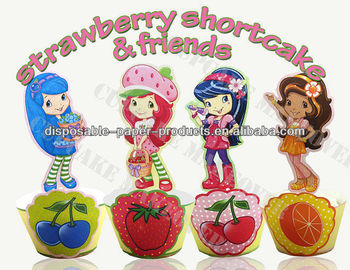 Strawberry Shortcake And Friends Cupcake Toppers And Cupcake ...