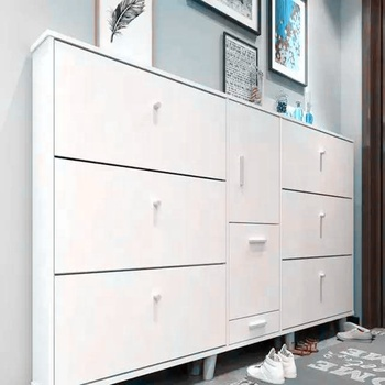 Wooden Design Shoes Cabinet Shoe Rack Drawer With Doors