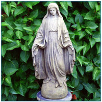 Outdoor Religious Peaceful Catholic White Marble Virgin Mary Statue