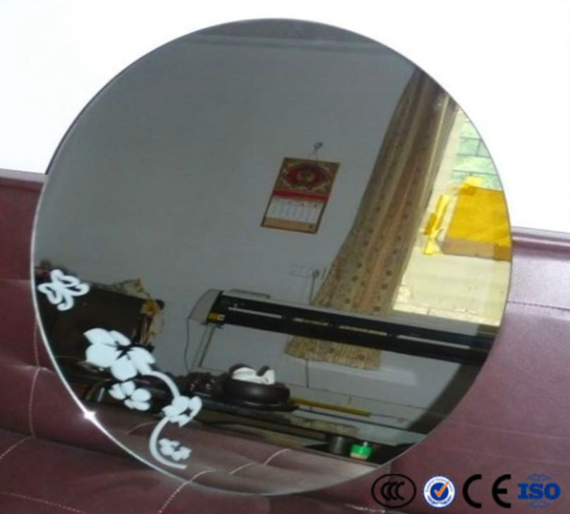3mm~6mm polished bathroom mirror for hotel decorative
