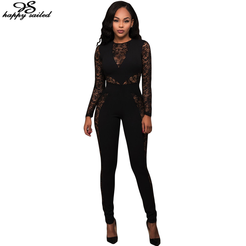 b0478e03edc ... Fitted One Piece Jumpsuit  Popular Womens Black One Piece Fitted  Jumpsuit-Buy Cheap