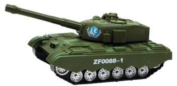 Battery Operated Bump n' Go Army Tank Force With Light & Sounds Toy For Kids!