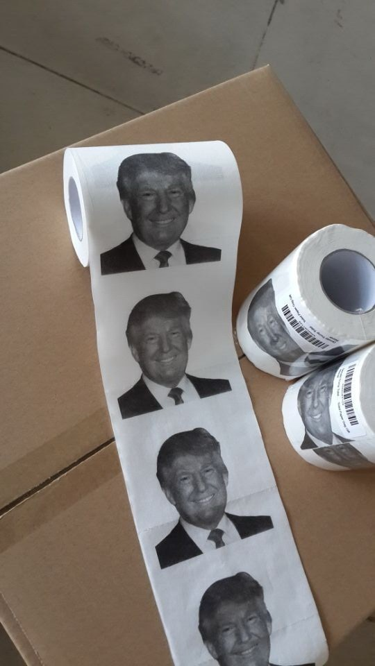 Factory Wholesale 3 Ply Donald Trump Printed Toilet Paper