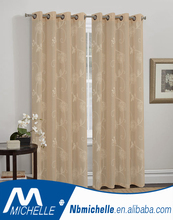Cross linen with embroidery Home window linen curtain