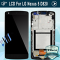 Original For LG Nexus 5 D820 D821 LCD Display Touch Screen Digitizer with Frame Assembly dull