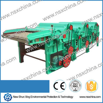 Best Seller Four Rollers Textile fabric Yarn Clothes Fiber cotton Waste Recycling Machine NSX-QT410