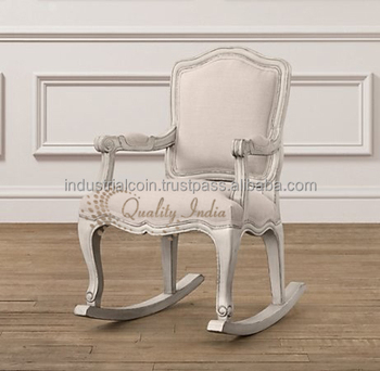 French Style White Color Rocking Chair