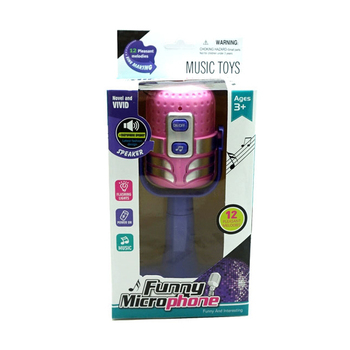 Toddler mini musical microphone toy with light