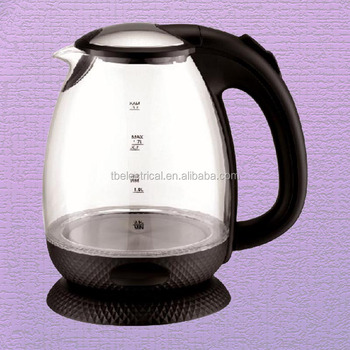 Gl Tea Kettle Color Changing Electric With 360 Degree Rotational Base