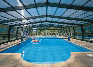 easy quick assemble prefabricated canopy roof of swimming pool