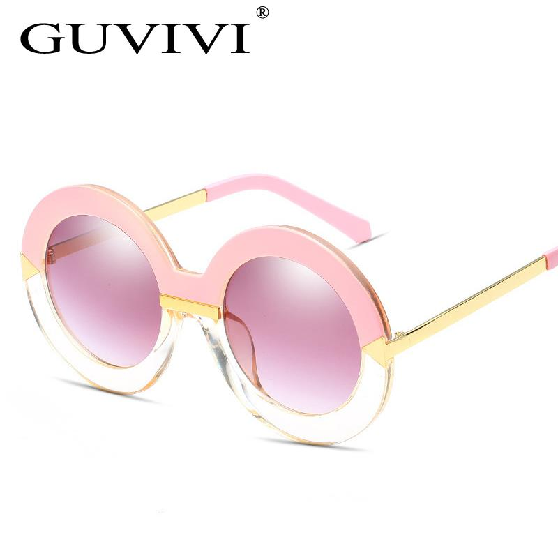 Guvivi marco redondo y vintage doble lentes de sol variedad Sol al ...