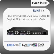Professional dvb-s2 to dvb-t transmodulator with CI slot for hotel cable tv system