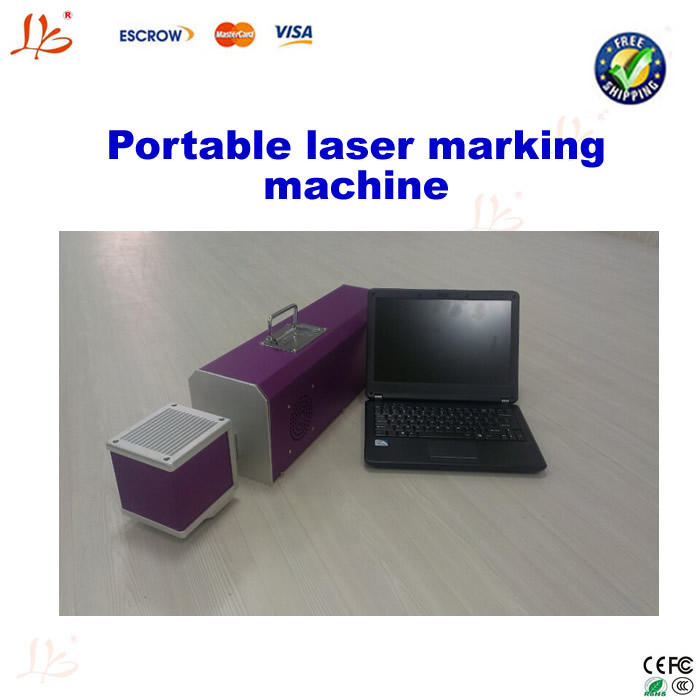 Free shipping! Portable laser maker/Label making machine, CO2 laser smart/laser marking machine
