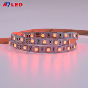 Best selling high lux flexible light 12v 24v 14.4w smd 5050 multi color running rgb led strip