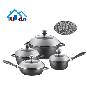 Customizable heat-resistant non-stick glass plate cast aluminum baking tray forged aluminum frying pan