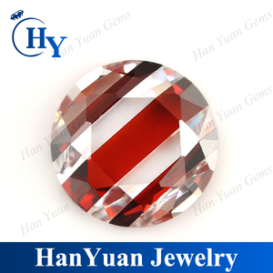 multicolor round shape AAA synthetic stones cubic zirconia price