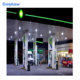 Canopy design steel structure space frame gas station for sale