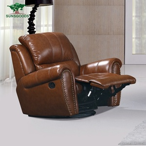 Custom Genuine Leather Lazyboy Electric Recliner Chair India, European Recliner Chair Living