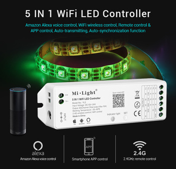 Milight Rgb Rgbw Rgb-cct Dimmer Cct 5 In 1 Alexa Led Wifi Controller Yl5 -  Buy Led Wifi Controller,Alexa Led Wifi Controller,Yl5 Product on