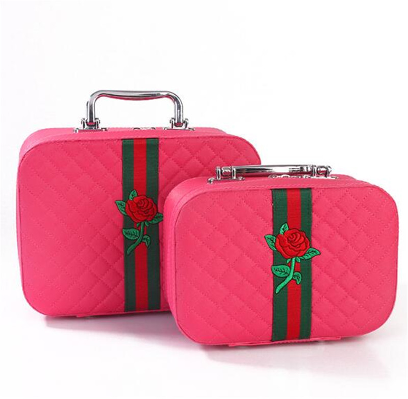 china <strong>manufacture</strong> rose cosmetic <strong>box</strong> <strong>set</strong> cosmetic travel case <strong>set</strong>