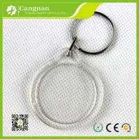 promotion clear plastic acrylic keychains