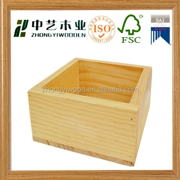 2015 factory price cheap cube packing unfinished empty wooden box