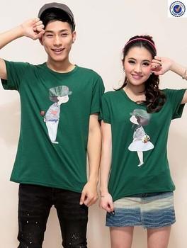 56594176d9 New Design Cute Cartoon Couple T-shirts - Buy Cartoon Couple T ...