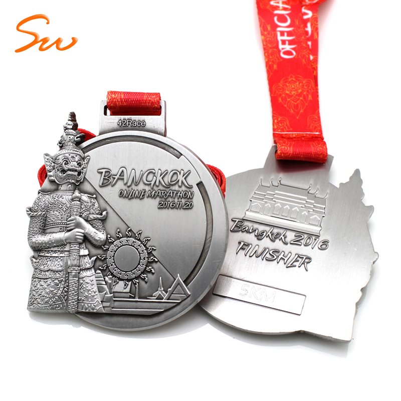 Souvenir Custom Gold Award  Running Sports Marathon Medal