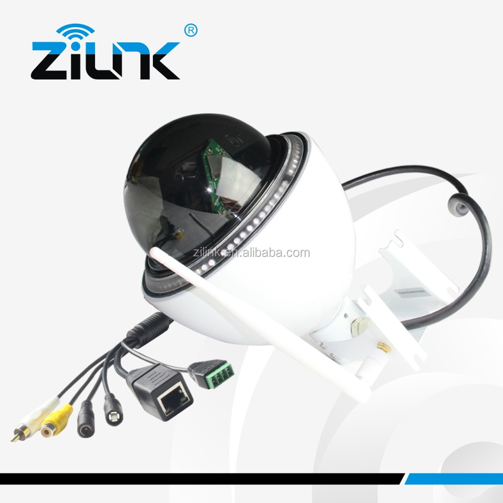 Wireless PTZ IP camera With free PC central management software and iOS, Android APP