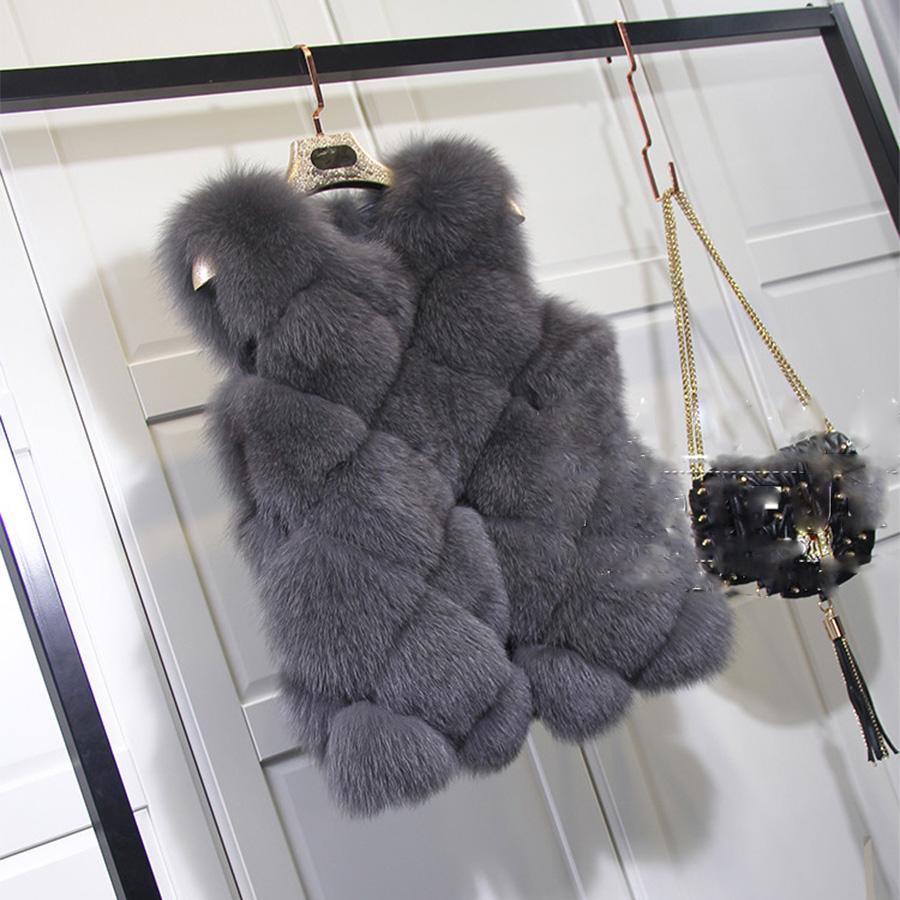 2015 hiver plus la taille fausse fourrure gilet sans manches manteau de renard gilet matelass. Black Bedroom Furniture Sets. Home Design Ideas