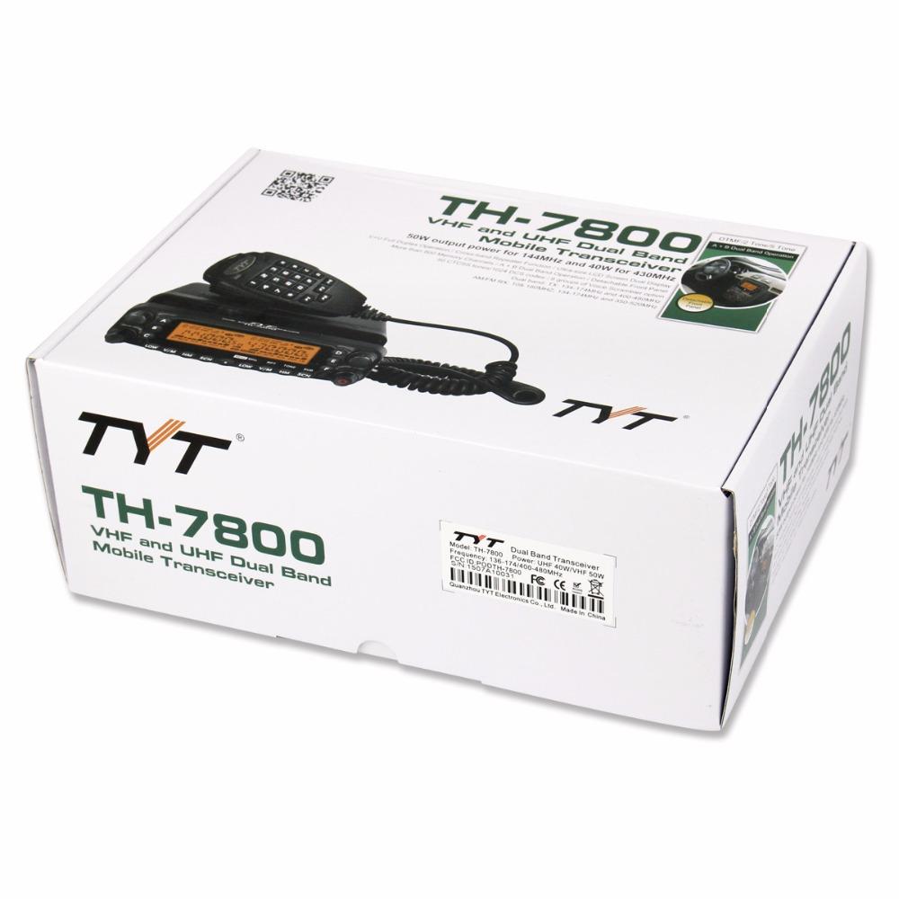 2015 TH-7800 двухдиапазонный 136 - 174/400 - 480 мГц 50 Вт укв / 40 Вт мобильный трансивер для автомобиля A7184A ESHOW