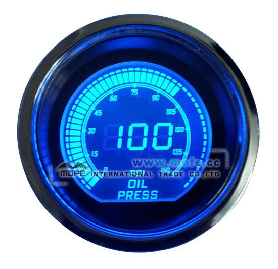 "2"" Digital Blue Light Auto Gauge meter"