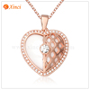 Fashion lovely gold plated jewelry ceramic zircon pendant