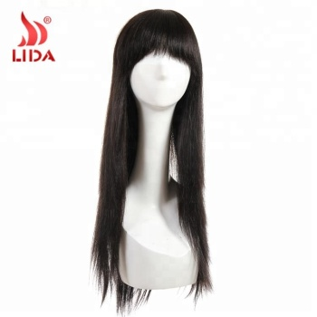 Indian 100% Human Hair Wig natural long mink black wig raw original hair