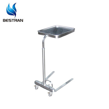 Bt Smt004 Stainless Steel Hydraulic Instrument Tray Table Stand For Mayo