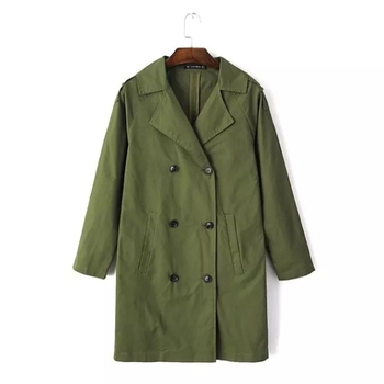 MS66536W 2015 plain style women fashion military coats