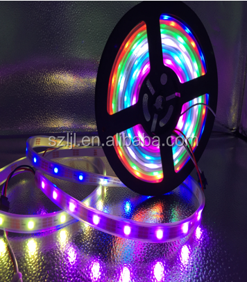 High quality programmable full color 5V 30leds/m SK6812 5050 led flex strip CE&ROHS