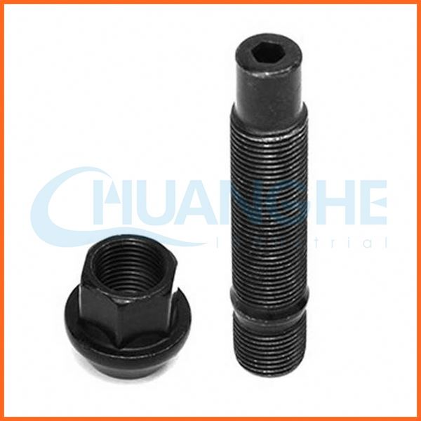 Made in china supplier quality half thread serrated wheel stud