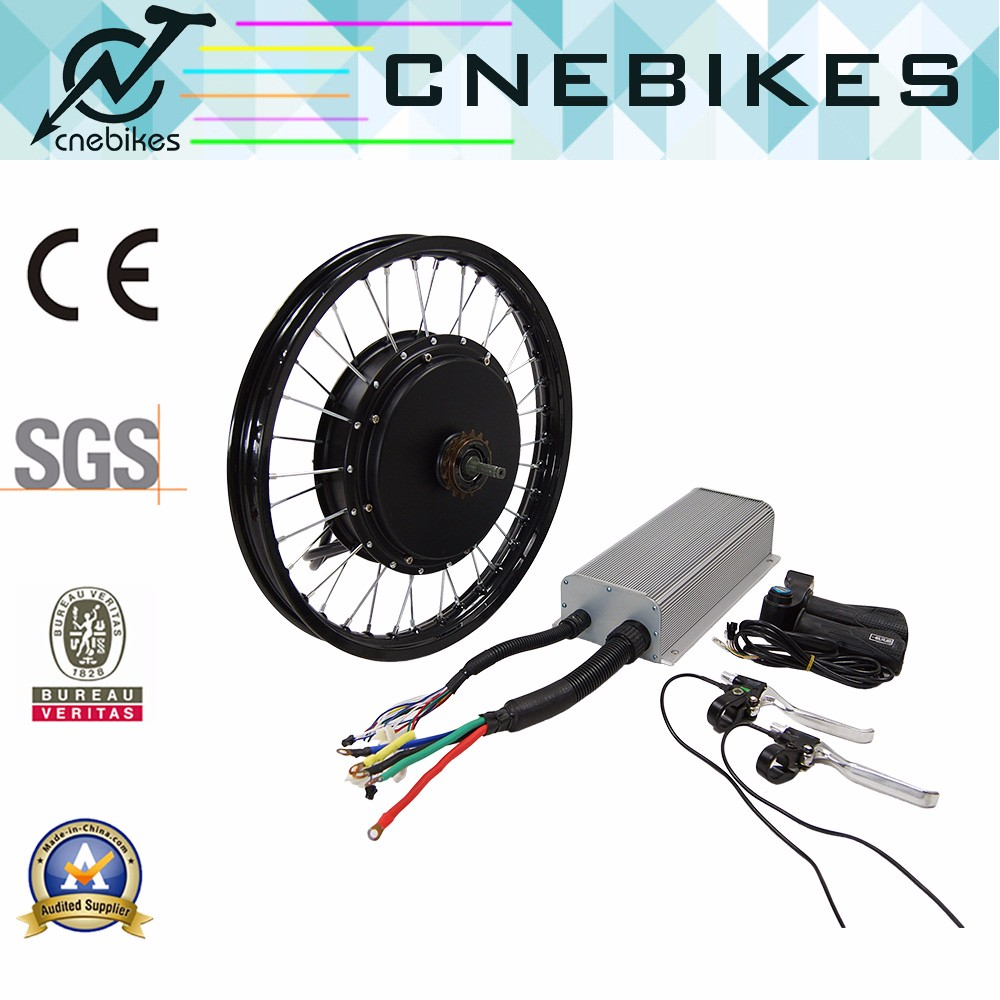 120km/h speed 60V-96v brushless hub motor 5000w e bike conversion kit