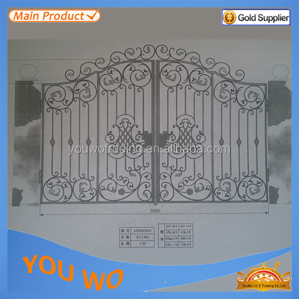 Unique Wrought Iron Main Gate Designs