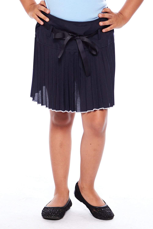 8419b7e9b93 Get Quotations · Girls Kids Accordian Style Ribbon School Uniform Skirts  GSKU-318
