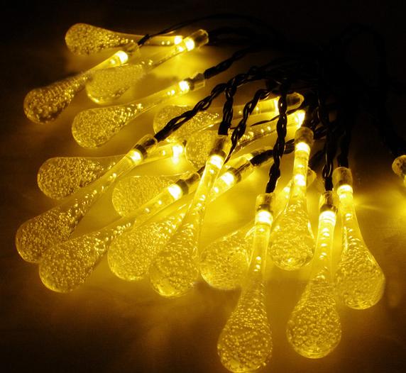 Led Solar Globe String Lights 50led Warm White Crystal Ball For ...