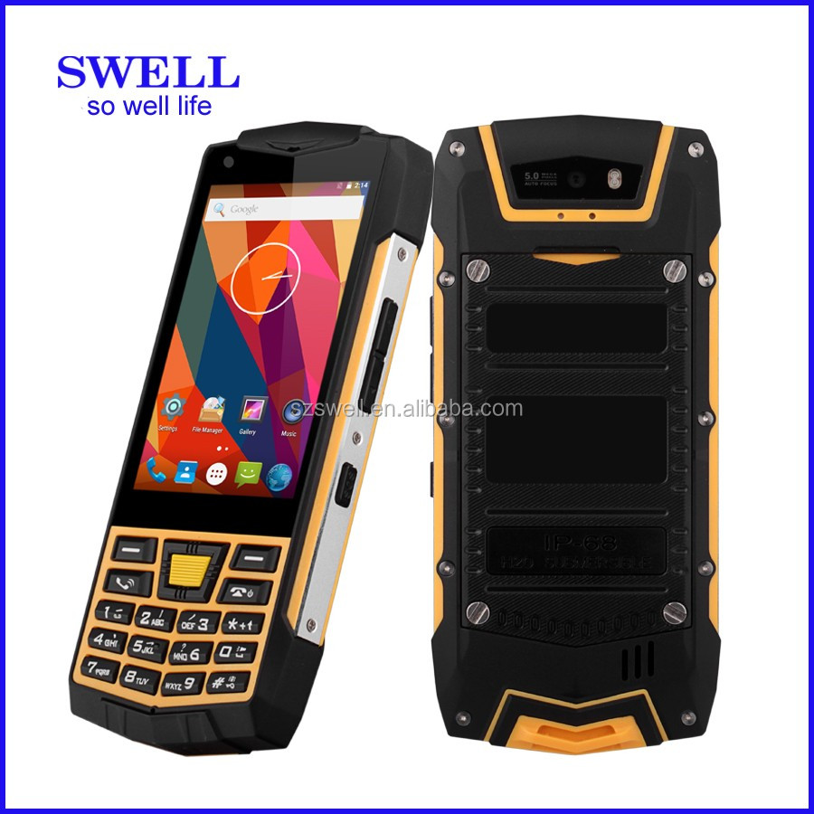 Swell N2 Rugged Cell Phone 2016 Ip68 Android 6 0 Os Ips Screen Outdoor Sensors With