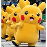 2018 Cute japan cartoon character pikachu mascot costumes/used pikachu costume for sale