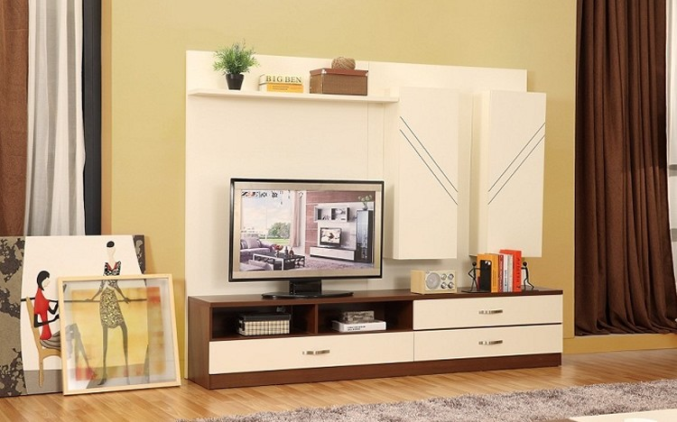 Modern new model tv stand simple wooden tv stand for Drawing room farnichar